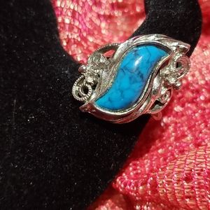 Vintage tourquise adjustable ring